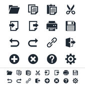 Application toolbar icons
