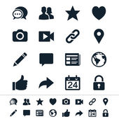 Simple vector icons Clear and sharp Easy to resize