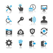 Simple vector icons Clear and sharp Easy to resize EPS10 file contains opacity masks