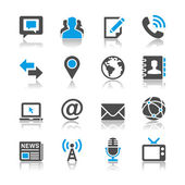 Media and communication icons - reflection theme