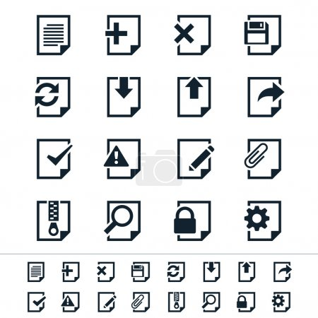 Illustration for Simple vector icons. Clear and sharp. Easy to resize. No transparency effect. EPS10 file. - Royalty Free Image