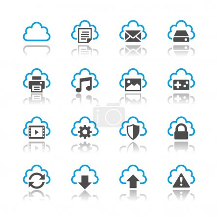 Illustration for Simple vector icons. Clear and sharp. Easy to resize. EPS10 file contains opacity masks. - Royalty Free Image