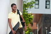 African student smiling