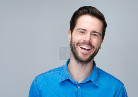 Portrait of an attractive caucasian man laughing