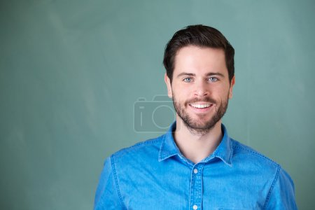 Photo for Closeup portrait of a handsome caucasian man smiling - Royalty Free Image