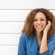 Closeup portrait of a beautiful woman laughing wit...