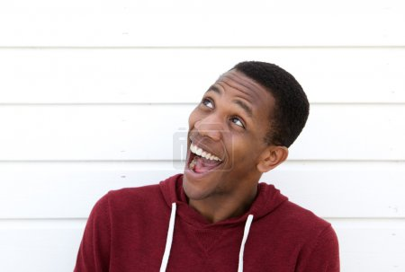 Black man with funny expression