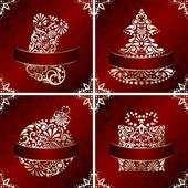 Elegant Christmas Cards With Filigree Ornament