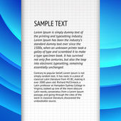 Text field over blue banner for your text Vector illustration