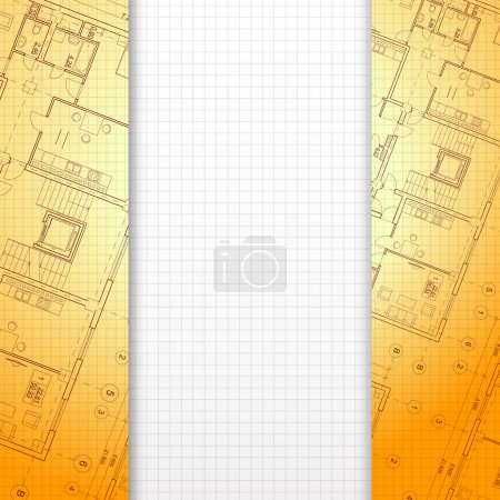 Architectural orange background.