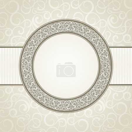 Illustration for Vintage frame. Vector illustration, eps10. - Royalty Free Image