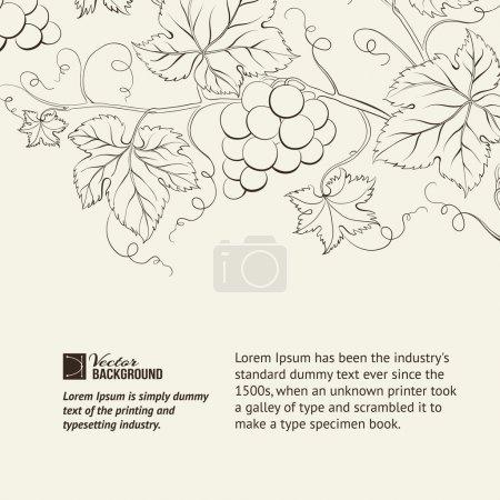 Illustration pour Étiquette de carte des vins. Illustration vectorielle. - image libre de droit