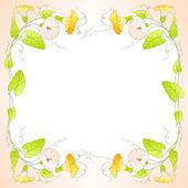 Flowers Frame of bindweed Vector illustration