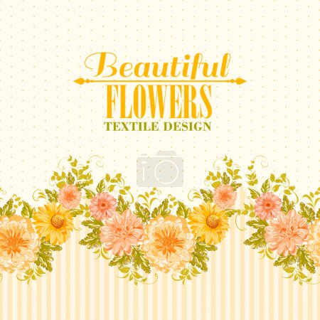 Illustration for Invitation card with flowers. Vector illustration. - Royalty Free Image