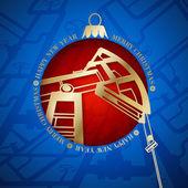 Oil industry christmas design