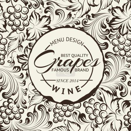 Illustration pour Schéma de la carte des vins sur tableau. Illustration vectorielle - image libre de droit