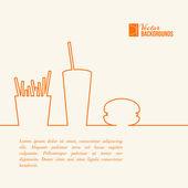 Fast food design Vector illustration