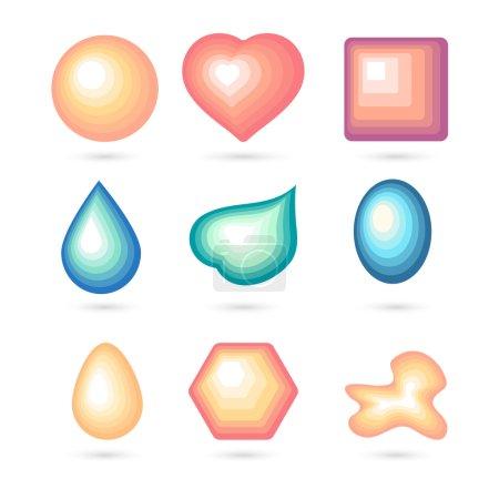 Icon bubbles set.