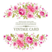 Luxurious vintage card of color rose Vector illistration