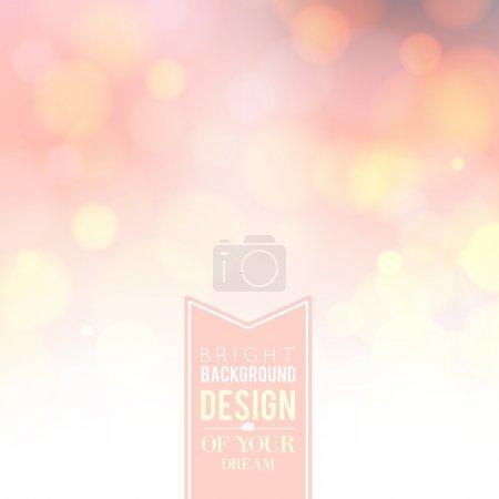 Illustration for Spa lettering over pink bokeh background. Vector illustration. - Royalty Free Image