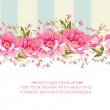Ornate pink flower border with tile. Elegant Vinta...