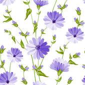 Seamless flower pattern of wild flower Vector illustration