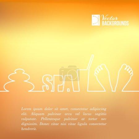 Illustration for Spa elements of line design. Vector illustration. - Royalty Free Image