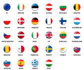 Národní vlajka míč z členských zemí eu
