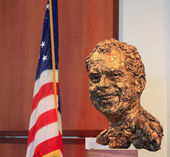 Bust of President Nixon at Nixon Presidential Library