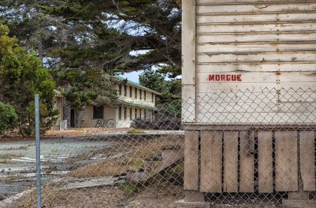 Abandoned Morgue Building at Fort Ord Army Post