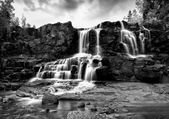 Gooseberry Falls Black and White in the Rain5
