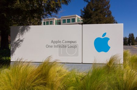 Photo for Apple Headquarters in Silicon Valley. Apple designs, develops, and sells consumer electronics, computer software and personal computers. - Royalty Free Image