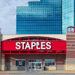 Staples office supply store exterior. Staples, Inc...