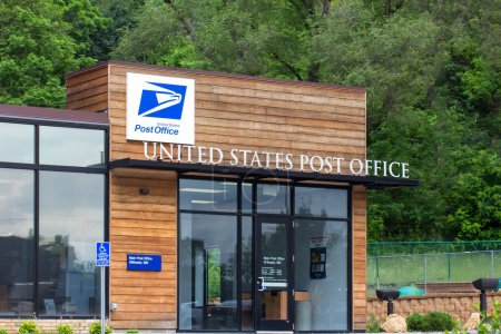 Photo for United States Post Office building. The United States Postal Service provides postal service in the United States. - Royalty Free Image