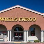 Wells Fargo bank exterior. Wells Fargo & Company i...