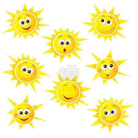 Photo pour Les soleils - ensoleillés - joyeux symbole illustration - bon pour l'emballage - cool pour les enfants - image libre de droit