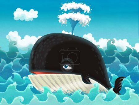 Cartoon whale...