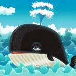 Cartoon whale...