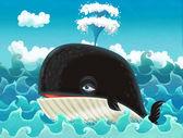 Cartoon whale
