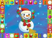 Vánoční přání s jasnou pozadím - ilustrace pro děti
