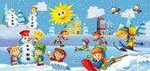 Divertimento invernale per bambini