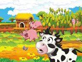 život na farmě - ilustrace pro děti