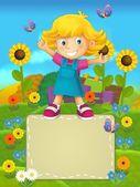 Kreslený štítky - usmívající se tváře bannery - ilustrace pro děti