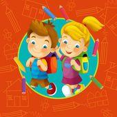 čas do školy - ilustrace pro děti