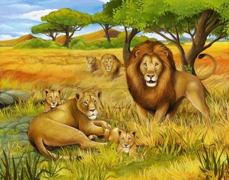 Photo pour Le safari - illustration pour les enfants - image libre de droit