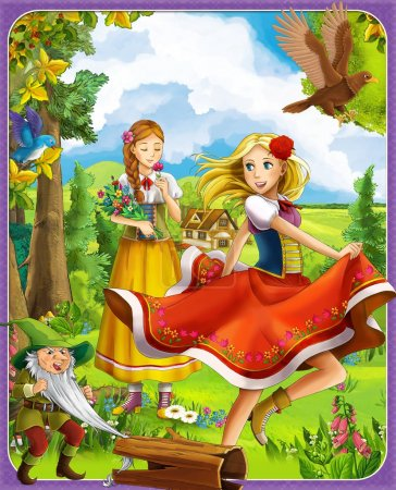 The princesses castles - knights and fairies - Beautiful Manga Girls - illustration for the children