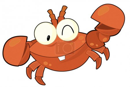The cartoon crab