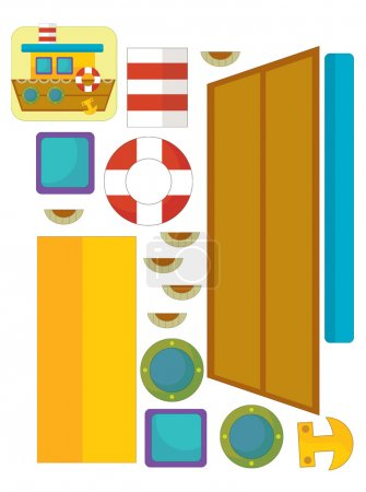 Photo pour Le puzzle du personnage - illustration pour les enfants - image libre de droit
