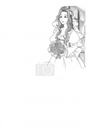 The sketch coloring page - artistic style