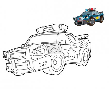 Police car - coloring page